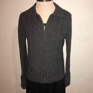 Gap Wool Zip Up Cardigan